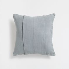 GREEN BANDED LINEN CUSHION COVER