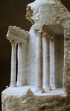 BASILICA II Carrara marble 2007 Height 45cm