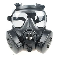 Generic Tactical Airsoft Paintball Full Face Skull Gas Mask M50 Black