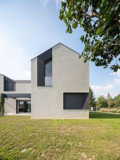 Nuovo minimalista Architecture in linea Architecture Design, Minimalist Architecture, Facade House, House Goals, Minimalist Home, Building Design, Modern House Design, Detached House, Cabana