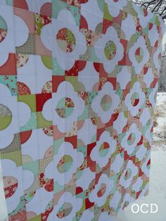 around the world drunkards path quilt pattern