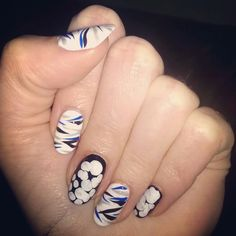 #nailsoftheday #notd  #zebra #stripes   inspired by fausto puglisi Pre-Fall 2014