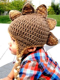 Dino hat... oh I wish mine was little enough to wear this.  too cute!