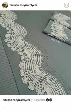 Image gallery – page 469852173617600994 – artofit – Artofit Crochet Mat, Crochet Lace Edging, Filet Crochet, Irish Crochet, Crochet Designs, Crochet Patterns, Crochet Collar Pattern, Decoration Christmas, Home Decoration