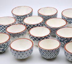 Patterned Ceramic Bowl Pinch Pot Terracotta by susansimonini