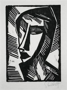 Weiblicher Kopf (Female Head) by Karl Schmidt-Rottluff