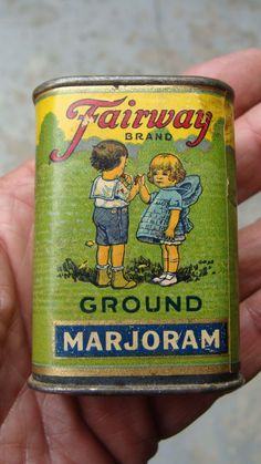 Vintage Fairway Litho on Paper on Tin 1 oz Spice Tin | eBay