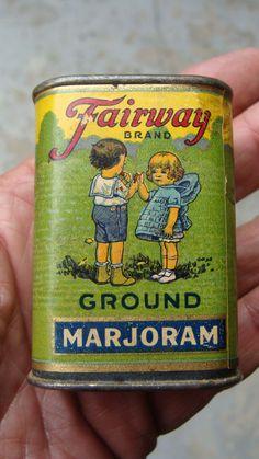 Vintage Fairway Litho on Paper on Tin 1 oz Spice Tin | eBay