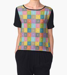 Emoji Emoticon Pattern Illustration by Gordon White | Black Emoji Chiffon Top Available for Women in All Sizes @redbubble --------------------------- #redbubble #emoji #emoticon #smiley #faces #cute #addorable #pattern #chiffon #top #apparel #clothing #fashion
