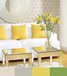 Juega con el #amarillo en la decoración y pon unas flores en tu #sala le darán vida.