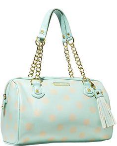 FRINGY FROU FROU SATCHEL MINT accessories handbags non leather satchels  Betsey Johnson Purses 36a04bbc66402