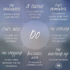 Collocations with ' Do '