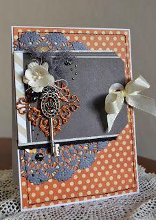 card flowers doily keay tag ribbon flower card blomsterbox glitter gitte