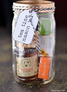 Tea mason jar