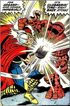 Thor vs The Thing - Jack Kirby