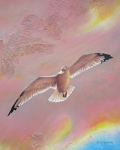 "Surveyor Ceramic Tile Depicts a Seagull that is a small part of a larger painting entitled, ""Ascension at Sunrise"" by Pamela Kirkham. Sunrise Painting, Wire Hangers, Photorealism, Large Painting, A Table, Saatchi Art, Mosaic, Original Paintings, Canvas Art"