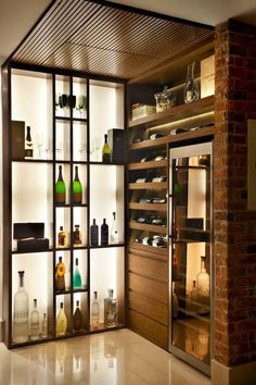 Wine room tall skinny frige for beer mixers fruit etc Also want ice maker