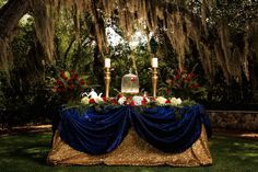 Beauty and the Beast Themed Wedding, Central Texas. Love this fairytale table setting! So classic!