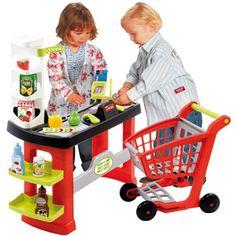 Sortie de caisse mini market avec trolley