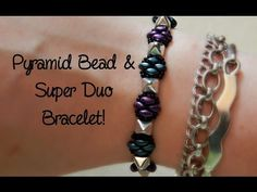 DIY Pyramid Bead and Super Duo Bracelet! ¦ The Corner of Craft - YouTube