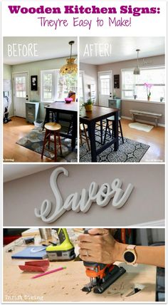 Wooden Kitchen Signs: They're Easier to Make Than You Realize