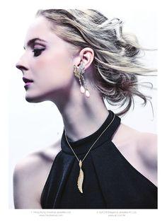 The streamline design enhances the streaming feeling l Wonderland Universal Jewellery Pearl Earrings, Drop Earrings, Designer Collection, Winter Wonderland, Hong Kong, Magazine, Models, Jewellery, Heart