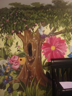 enchanted forest nursery theme. If. Ever had a LiL girl I think I would want something like this