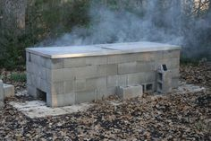 Anatomy of a cinder-block pit | Texas Barbecue