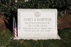 James A. Garfield Marker: Lake View Cemetery- Cleveland - Historical final resting place of President James A. Garfield, Elliot Ness, John D. Rockefeller,