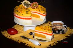 https://flic.kr/p/FCugkR | Mango yogurt  cake with passionfruit