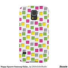 Happy Squares Samsung Galaxy S5, Barely There Case