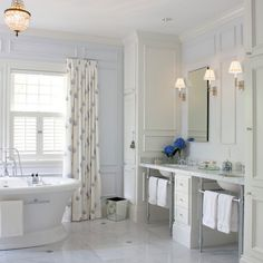Master Bathroom Pedistal Sinks Design Ideas, Pictures, Remodel, And Decor    Page 6