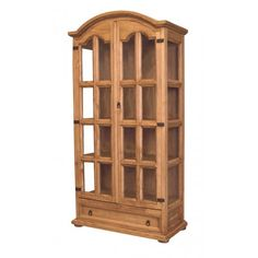 Mexican Pine Curio Cabinet Painted Cabinets Gun Storage