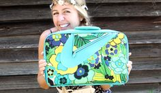 Vintage Mod Retro 1960's Flower Power Luggage Suitcase by MsMod, $65.00