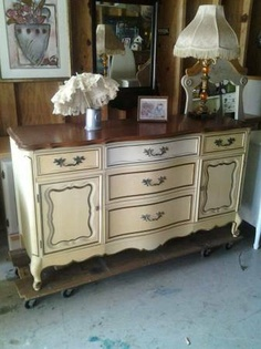 Tampa: Dresser AWESOME FRENCH Provencial all wood!!!!!Vintage $235 - http://furnishlyst.com/listings/350395