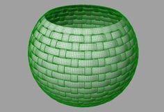 Another Basket With a tighter weave Grasshopper Rhino, Rhino 3d, Digital Fabrication, Parametric Design, 3d Tutorial, Rhinoceros, Scripts, Weave, Basket
