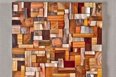 DIY Art truly worthy of the wall space. It is made from cast off cuts of wood
