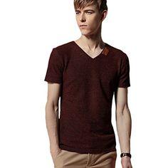 Minibee Men's V Neck T-shirt Cotton Linen V Neck Tee Red-M Minibee http://www.amazon.com/dp/B00XX0PF2C/ref=cm_sw_r_pi_dp_ITIGvb14KSAAA