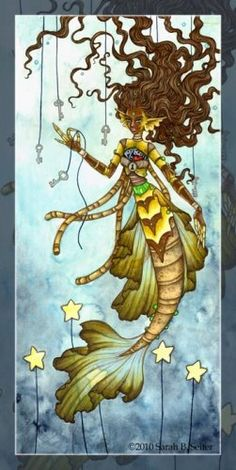 The Key to my Heart by MisticUnicorn on DeviantArt Mermaid Artwork, Water Fairy, Great Fear, Real Mermaids, Mermaid Coloring, Key To My Heart, Merfolk, Colorful Drawings, Sea Creatures