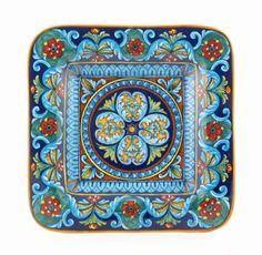 Deruta italian ceramic decoration - Geometric wall plate - platter