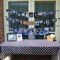Instead of a graduation scrapbook, create banners to display pictures of the graduate through the years.