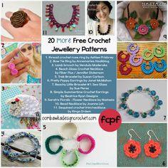 20 more free crochet jewellery patterns