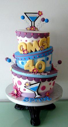 OMG! 40 Celebration Cake - by thevioletcakeshop @ CakesDecor.com - cake decorating website