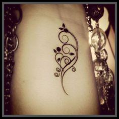 heart with swirly vines fake tattoo temporary tattoo swirls with a heart tattoo