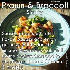 Prawn & Broccoli Stir Fry #step2 #CWP Healthy Foods To Make, Healthy Eating Recipes, Diet Recipes, Food To Make, Cooking Recipes, Cambridge Diet Step 2, Cambridge Weight Plan, Meals Under 200 Calories, 200 Calorie Meals