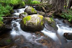 #hiking in #colorado I heard #water in the distance.  #curiousity got the best of me I headed off #trail to find this #splendid little #creek.  I scouted it out until I found the #perfect #boulder to anchor the center of my #shot. by king_nature_photography