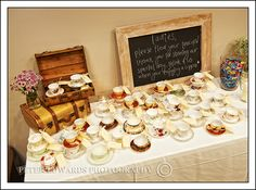 Teacups Wedding Favor Rustic Tea Party Cups Favors Bells