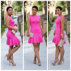 Mimi G's diy pink flounce dress and pattern review