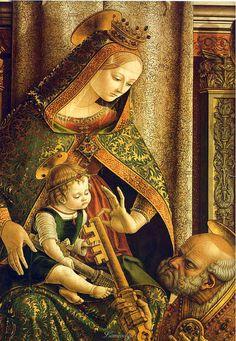 Vediamo appunto la Madonna col Bambino del Crivelli,
