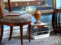 Animal print carpet